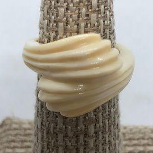 VTG Carved Bone Ring